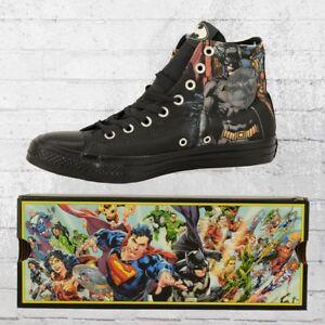 Converse-Schuhe-CT-High-Batman-Comic-Chucks-schwarz-Unisex-Maenner-Frauen-Sneaker