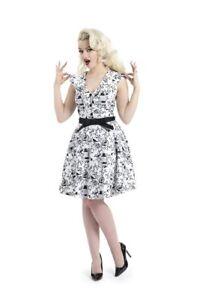 Women-039-s-Cute-Bird-amp-Cages-50-039-s-Rockabilly-Retro-Flared-Swing-Summer-Dress