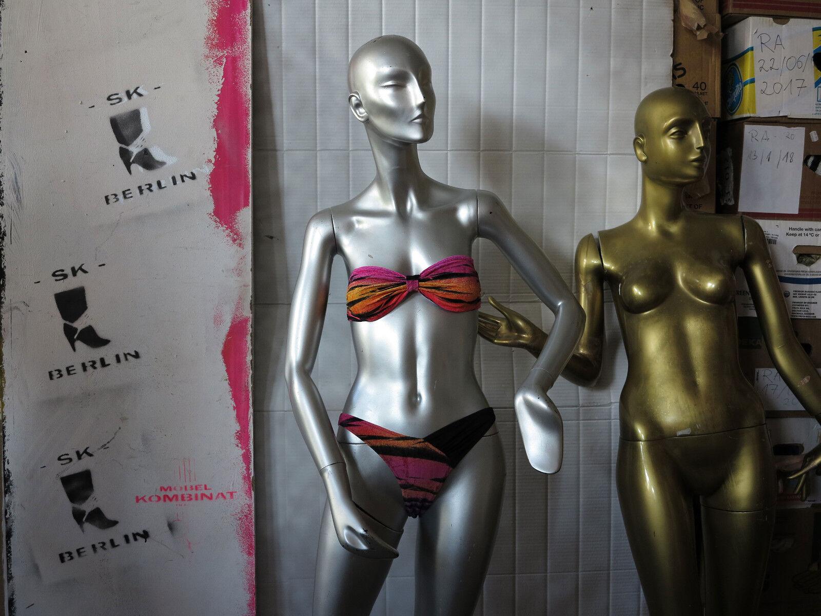 Sporett COSTUME BIKINI LYCRA velluto 38 rosa True Vintage 80s donna SWIMSUIT