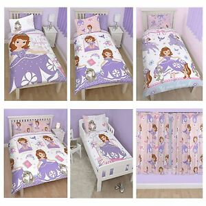 DISNEY SOFIA THE FIRST BEDDING SINGLE DOUBLE & JUNIOR DUVET COVER ...