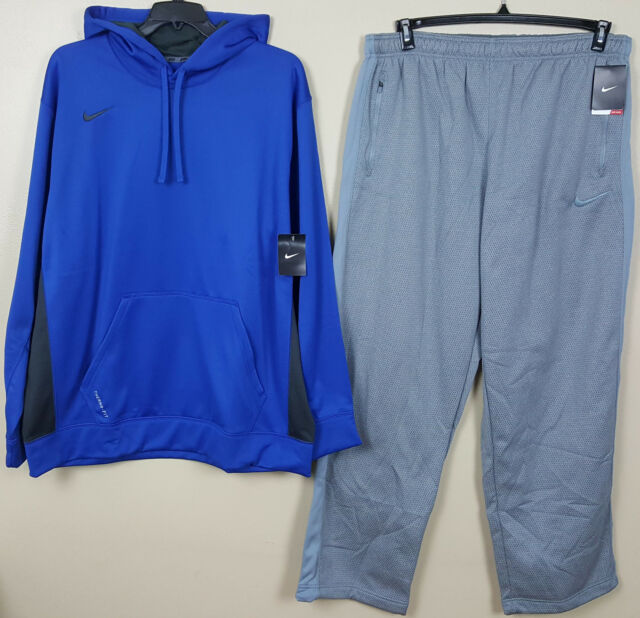 43f2865e3472 Nike Therma-fit Sweatsuit Hoodie Pants Set Royal Blue Grey (size 4xl 3xl)