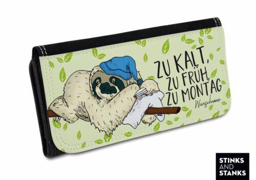 Portemonnaie mit Namen Portemonnaie Damen Brieftasche Damen Faultier Tasche