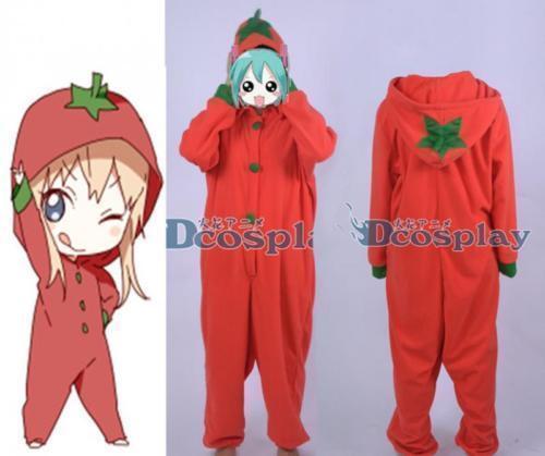 YuruYuri Kyōko Toshinō Tomato Red Sleepwear Nightclothes Cosplay Costume*