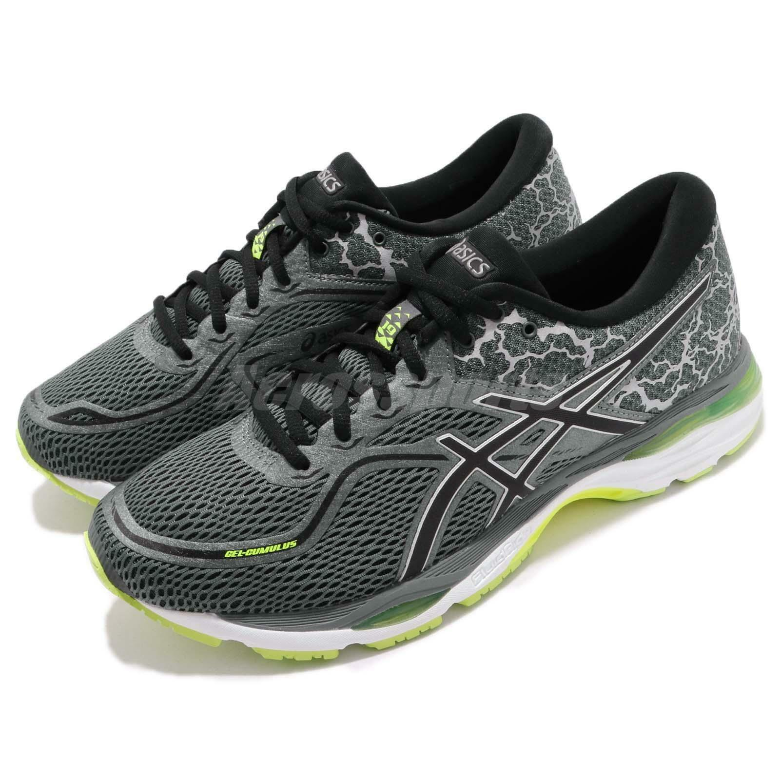 Asics Gel-Cumulus 19 Lite-Show  Grey Yellow Men Gear Road Running shoes T8A1N-9790  with 100% quality and %100 service