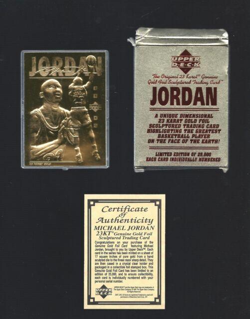 e11aa5b85e1 MICHAEL JORDAN 1995 Upper Deck 23 Kt Gold Card -  d   25000 in box w ...