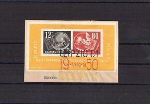 DDR-Debria-Block-7-1950-mit-Sonderstempel-auf-Briefstueck