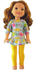 """Polka Dot Knit Tank Top for 14.5/"""" Wellie Wishers Doll Clothes SNAP CLOSURE"""