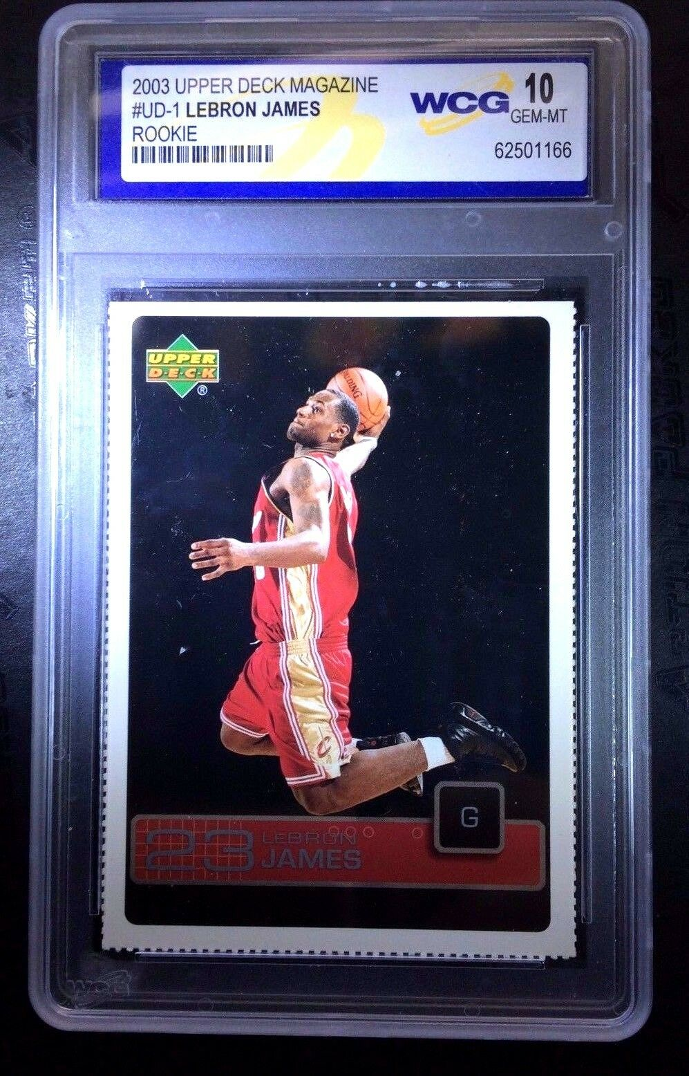 Lebron James Rc 2003 Upper Deck Magazine Rookie Card Ud1 Wcg10 Cavaliers G Goat Ebay
