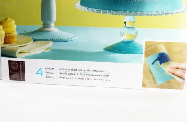 Borders Martha Stewart Scrolls /& Swirls ~ Adhesive Silkscreen Stencils #33242