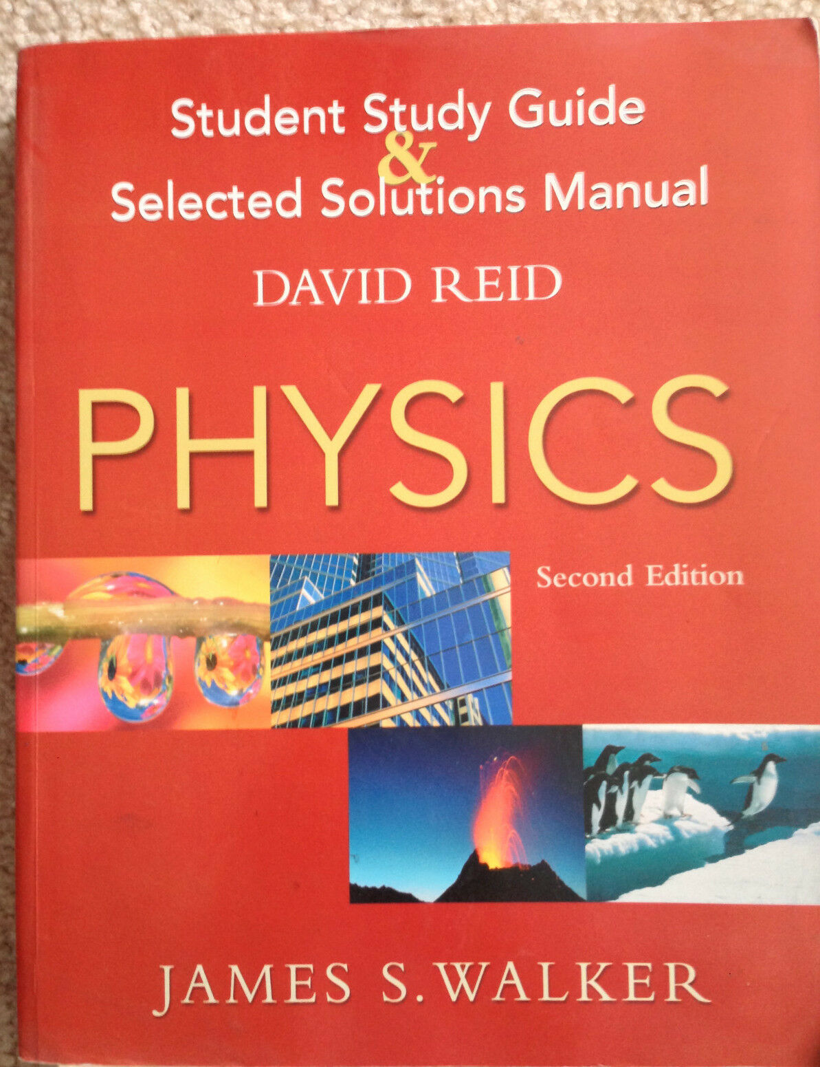 Physics Student Study Guide and Selected Solutions Manual by David Reid and  James S. Walker (2003, Paperback) | eBay