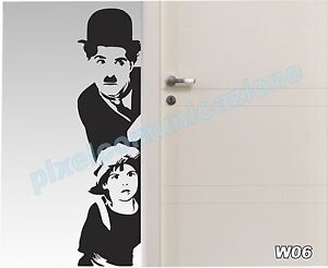 Adesivi Murali Charlie Chaplin.Dettagli Su Wall Stickers Adesivi Murali Come Quadro Moderno Charlie Chaplin Cinema