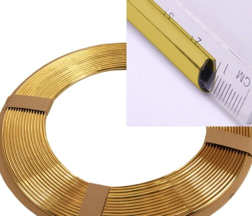 Gold Moulding Welt Trim u Profile 1 Meter Chrome Gold Edge Protection