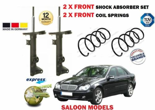 2X COIL SPRINGS FOR MERCEDES C180 C200 2000-2007 2X FRONT SHOCK ABSORBER SET