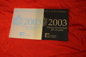 Série BU Saint Marin 2003 + 5 € argent