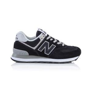 check out 4fc80 f8715 Details about New Balance 574 Classics Women's shoe - Black/White