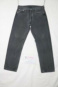 Levi-039-s-501-BOYFRIEND-usato-Cod-Y2195-W33-L36-ACCORCIATO-L30-jeans-dritto-nero