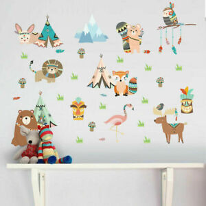 Tribal-Animal-Wall-Stickers-Removable-Kids-Decal-Home-Nursery-Decor-Art-Mural