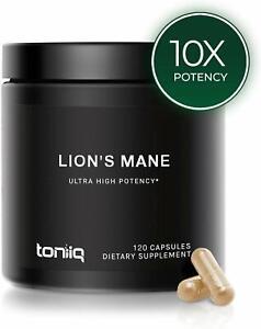 Toniiq-LIONS-MANE-Mushroom-Extract-1800mg-120-Caps-ULTRA-HIGH-STRENGTH-PREMIUM