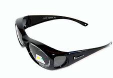 Figuretta solar-sobre gafas UV 400 polarizado negro de TV publicidad