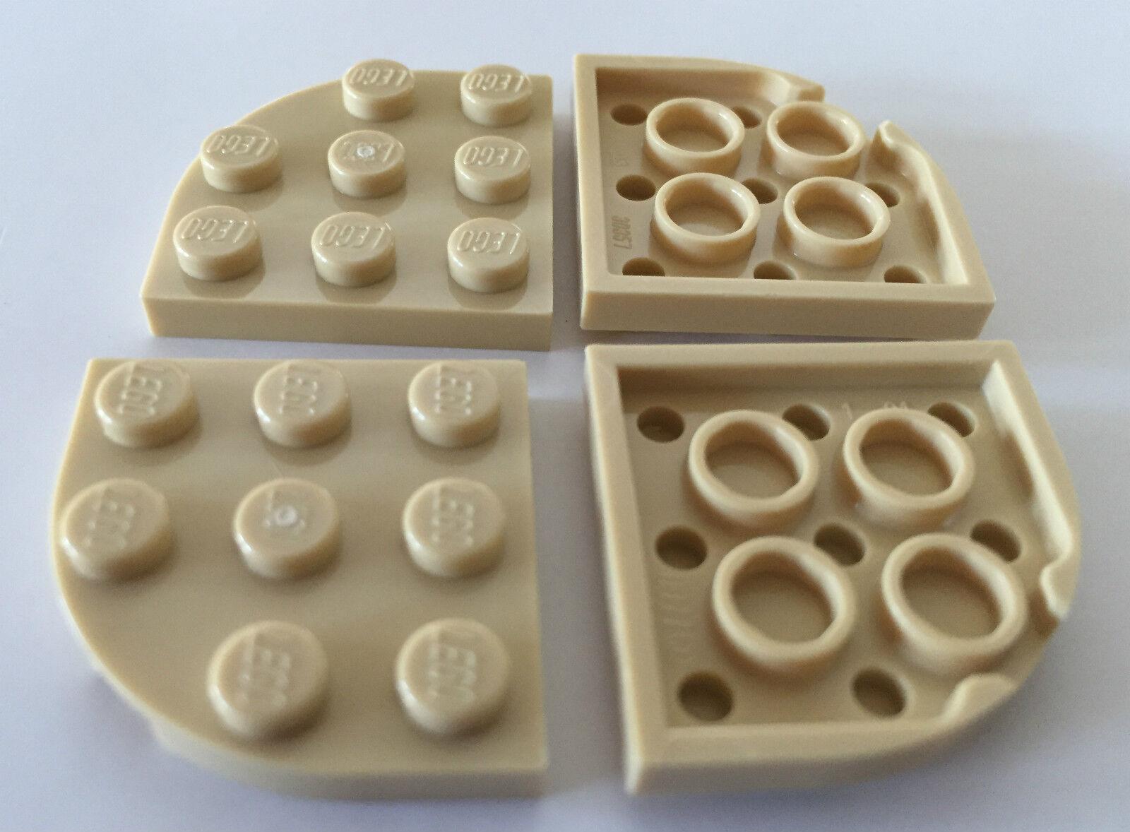 Plate Plaque Round Corner 3x3 30357 Black//Noir x8 Choose Quantity x1 Lego