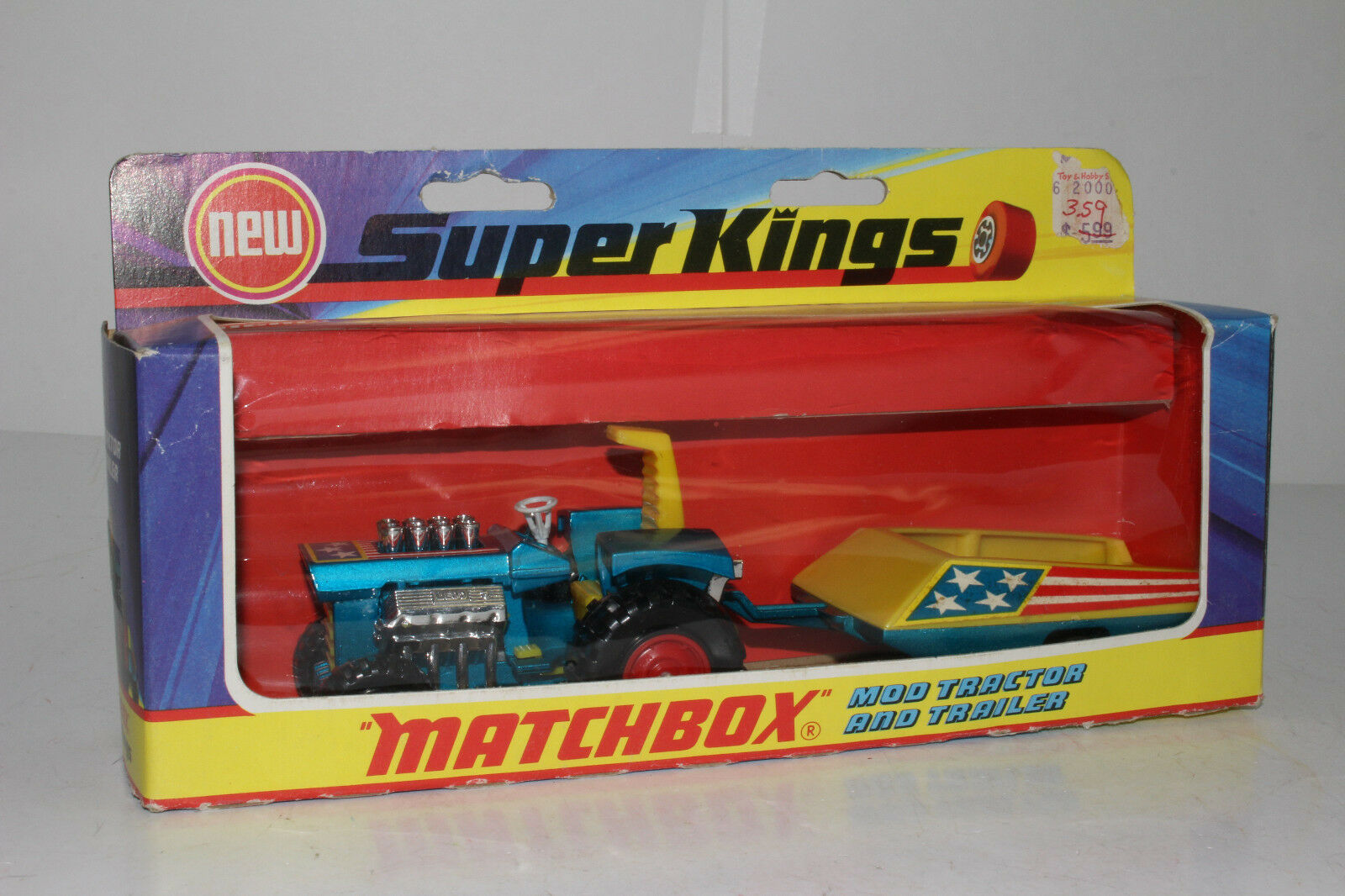 MATCHBOX SUPER SPEED KINGS  K-3 mod tracteur & remorque, excellent, boxed