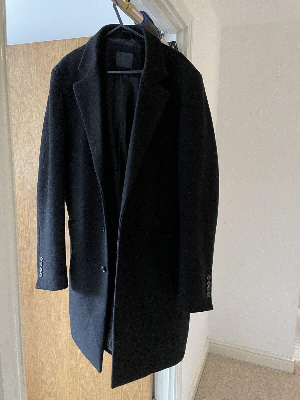 Asos Men's Medium Smart Overcoat wool Mix