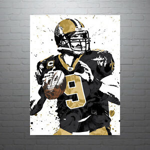 best sneakers 1c400 9e379 Details about Drew Brees New Orleans Saints Poster FREE US SHIPPING