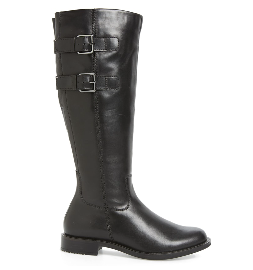 ECCO Shape 25 Women's Black Tall Buckle Boot Boot Boot Sz 36 EUR 2622  18c91c