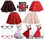 UK-GIRLS-LADIES-RED-NOSE-DAY-COSTUME-Polka-Dot-Skirt-FREE-SCARF-Fancy-Dress thumbnail 1