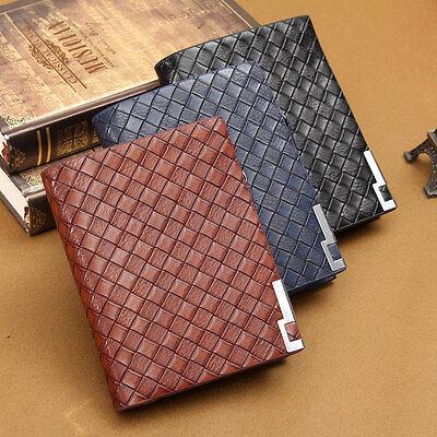 Genuine Leather Men's Bifold Wallet Creidt Card Receipt Photo Holder Purse Zip