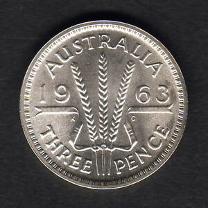 Australia-1963-Threepence-Proof-Mintage-5042