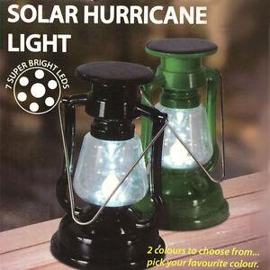 Plastic Solar Led Hurricane Lantern Light Paraffin Lamp Camping Flashlight Green