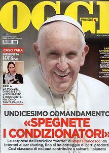 Oggi 2015 27 Papa Francesco I Patrick Dempsey Elisabetta Canalis Malika Ayane Ebay