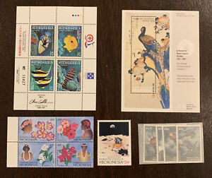 MICRONESIA-MINT-STAMP-LOT-INCLUDING-BLOCKS-AND-A-SHEET