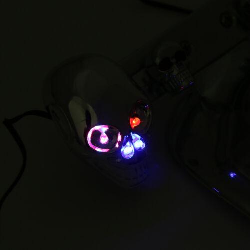 Chrome Moto Skull Integrated clignotant Feu Arrière De Freinage Pour Dyna AF