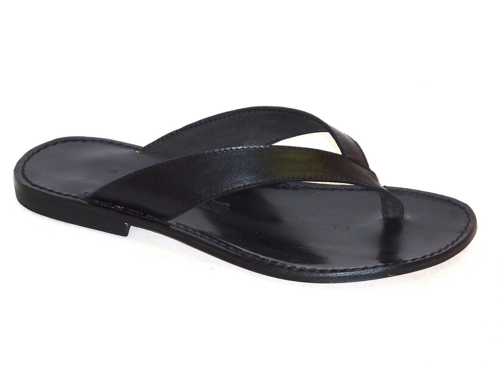 016 Flip-Flops Hausschuhe mode Herren Sandalen Leder schwarz mode Hausschuhe Junge n.42 5f2cd3