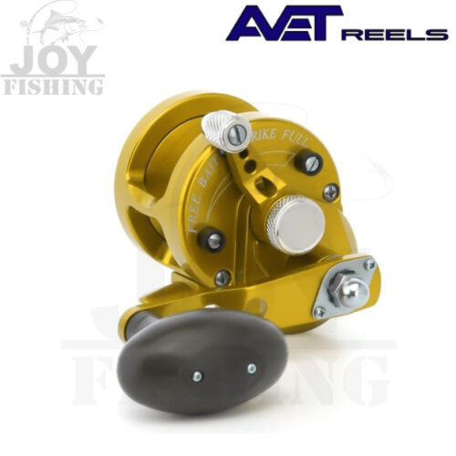 AVET SXJ 5.3 Single Speed Lever Drag Conventional Reel Silver SX 5.3 RH-GOLD