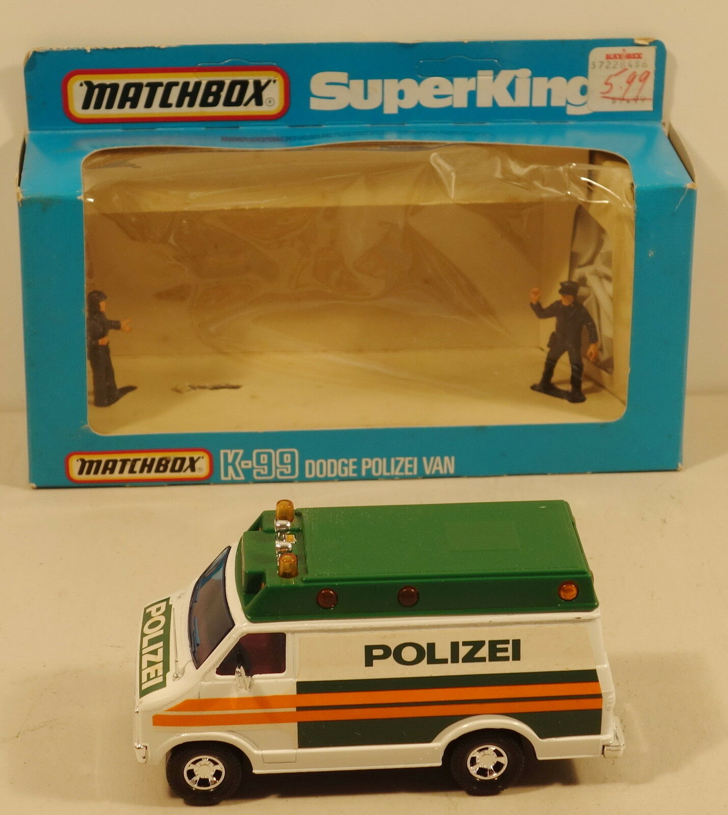 DTE GERMAN LESNEY MATCHBOX SUPERKINGS SUPERKINGS SUPERKINGS SK-99 POLIZEI DODGE POLICE VAN NIOB d735f6