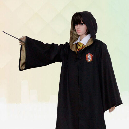 Harry Potter Cosplay Adult Gryffindor//Slytherin//Hufflepuff//Ravenclaw Robe Cloak