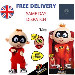 Disney-Incredibles-2-Fightin-039-Fun-Jack-Jack-Plush-Toy-Talk-Walk-amp-Light-Up