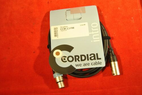 CABLE MICRO XLR//XLR 2.5M CORDIAL CCM2.5FM