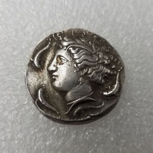 Rare-Silver-Plated-Greek-Coin-Ancient-Alexander-III-The-Great-Greek-Coin