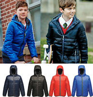 Regatta Kids Boys Girls Water Repellent Padded Jacket Coat with Hood AGES 3-12