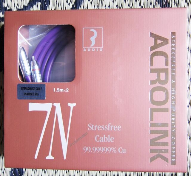 """/""""Acrolink Interconnect Rca Cable 7N-A2050Iii 0.6M~ 7N-A2050-3-0.6 *With tracking"""