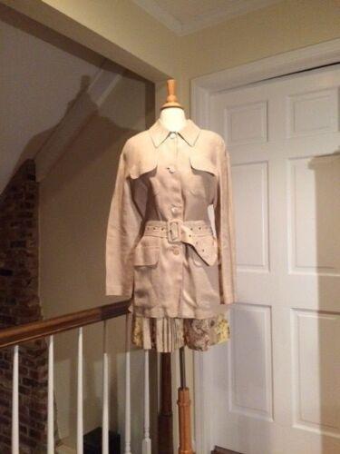 Taglia Style Vintage escada Crisca 38 6 Jacket Safari Beige rqYIxqS