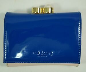 e02184658b8a1c Ted Baker New Alix Pearl Bobble Patent Small Leather Purse Blue ...