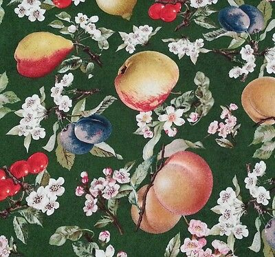 Eden by Tina Higgins for VIP Premium BTY Fruit /& Blossoms Apple Pear Cherry Plum