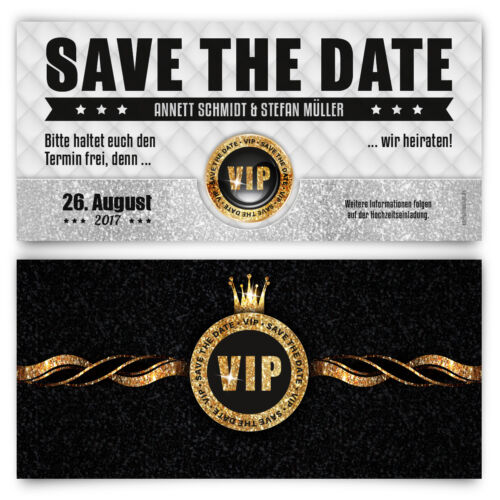 Save The Date Cards for Wedding-VIP Gold Wedding Cards