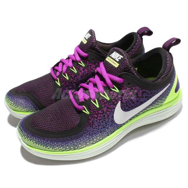 Nike Wmns Free RN Distance 2 II Run Purple Green Women Running Shoes 863776 501