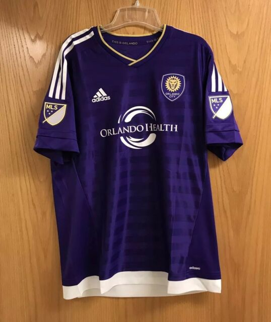 be64a1a14 ORLANDO CITY SC LIONS MLS Adidas Men's Size XL Soccer Jersey MSRP $120 NWT